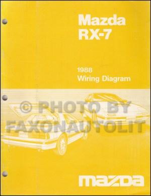 1988 Mazda RX7 Wiring Diagram Manual Original RX7