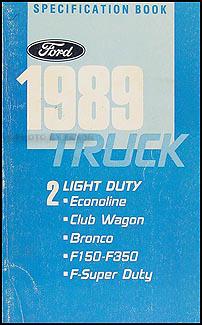 1989 Ford Econoline Foldout Wiring Diagram E150 E250 E350 Van Club Wagon