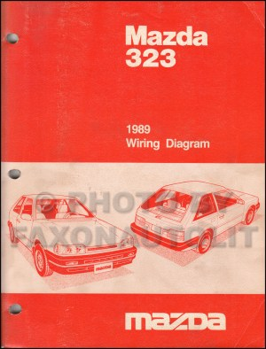 1989 Mazda 323 Repair Shop Manual Original