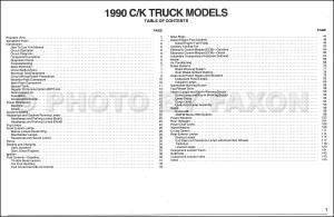 1990 Chevy CK Pickup Wiring Diagram Manual Original