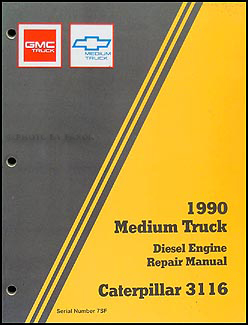 1990 GMC & Chevy TopkickKodiak Diesel Repair Shop Manual Original Supplement