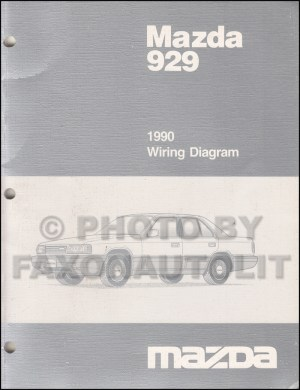 1990 Mazda 929 Wiring Diagram Manual Original
