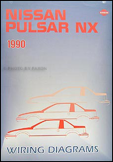 1990 Nissan Pulsar NX Wiring Diagram Manual Original