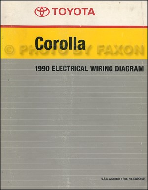 1990 Toyota Corolla Wiring Diagram Manual Factory Reprint