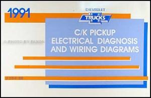 1991 Chevy CK Pickup Truck Wiring Diagram Manual 91