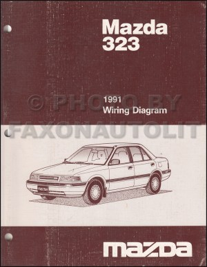 1991 Mazda 323 and Protege Repair Shop Manual Original
