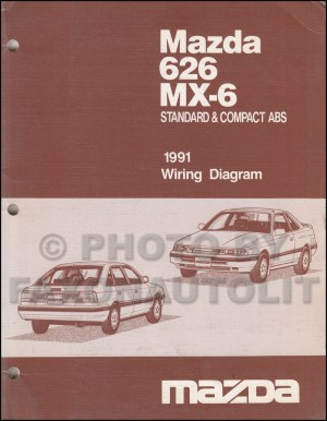 early 1991 Mazda 626 MX6 Wiring Diagram Manual Original