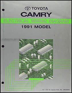 1991 Toyota Camry Wiring Diagram Manual Original