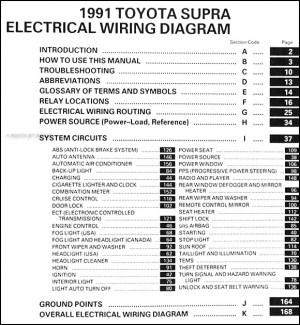 1991 Toyota Supra Wiring Diagram Manual Original