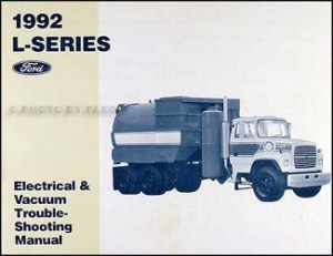 1992 Ford LSeries Foldout Wiring Diagram L8000 L9000