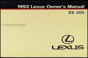 1992 Lexus ES 300 Wiring Diagram Manual Original