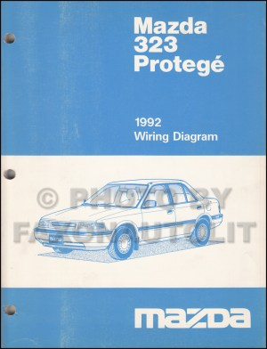 1992 Mazda 323 and Protege Wiring Diagram Manual Original