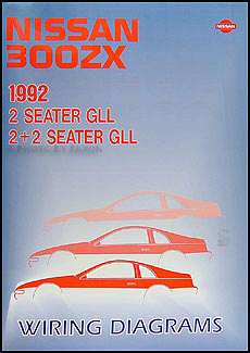 1992 Nissan 300ZX Wiring Diagram Manual Original