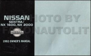1992 Nissan Sentra and NX Owners Manual Original OEM Owner