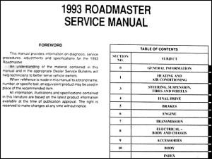 1993 Buick Roadmaster Repair Shop Manual Original