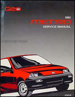 1993 Geo Metro Original Shop Manual 93 Em Repair Service