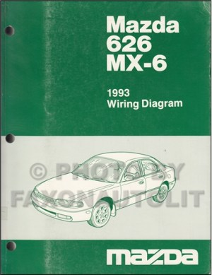 1993 Mazda 626 and MX6 Wiring Diagram Manual Original