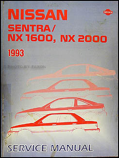 1992 Nissan SentraNX 1600, NX 2000 Factory Service Manual