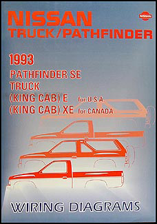 1993 Nissan Truck and Pathfinder Wiring Diagram Manual