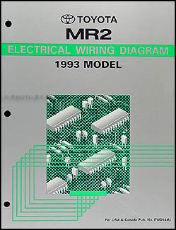 1993 Toyota MR2 Wiring Diagram Manual Original