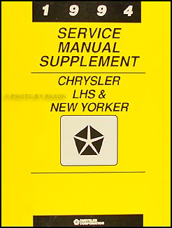 1994 Chrysler LHS and New Yorker Preliminary Repair Shop