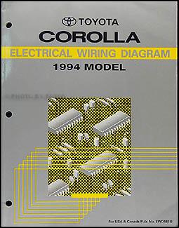 1994 Toyota Corolla Wiring Diagram Manual Original