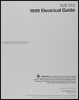 19951996 Jaguar XJS V12 Electrical Guide Wiring Diagram