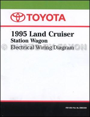 1995 Toyota Land Cruiser Wiring Diagram Manual Factory Reprint