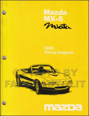 1996 Mazda MX5 Miata Wiring Diagram Manual Original