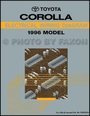 1996 Toyota Corolla Wiring Diagram Manual Original