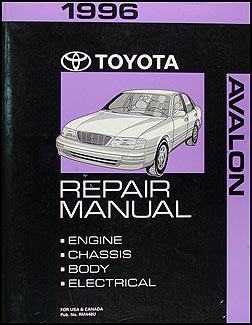 1996 Toyota Avalon Wiring Diagram Manual Original
