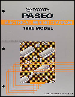 1996 Toyota Paseo Wiring Diagram Manual Original