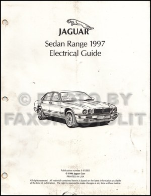 1997 Jaguar XJ6 Electrical Guide Wiring Diagram Original