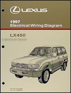 1997 Lexus LX 450 Wiring Diagram Manual Original
