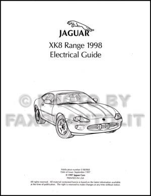 1998 Jaguar XK8 Electrical Guide Wiring Diagram Original