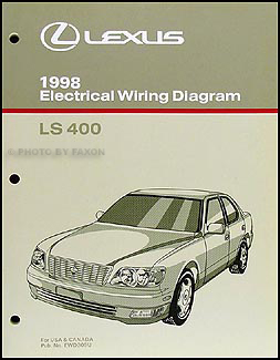 1998 Lexus LS 400 Wiring Diagram Manual Original