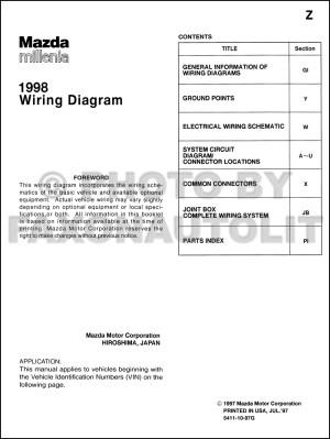 1998 Mazda Millenia Wiring Diagram Manual Original