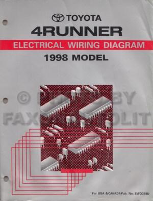 1998 Toyota 4Runner Wiring Diagram Manual Original