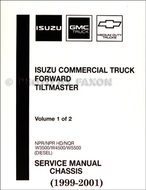 19992001 Diesel Chassis Repair Shop Manual Orig NPR NQR