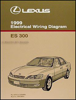 1999 Lexus ES 300 Wiring Diagram Manual Original