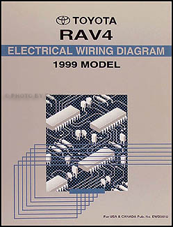 1999 Toyota RAV4 Wiring Diagram Manual Original