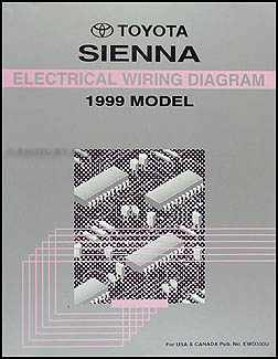 1999 Toyota Sienna Van Wiring Diagram Manual Original