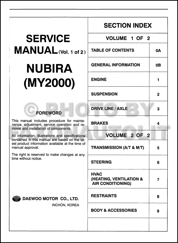2000DaewooNubiraORMSet TOC daewoo nubira transmission wiring diagram daewoo wiring diagram daewoo lanos wiring diagram at alyssarenee.co