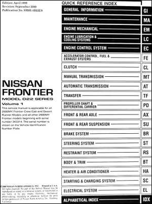2000 Nissan Frontier Stereo Wiring Diagram  Somurich