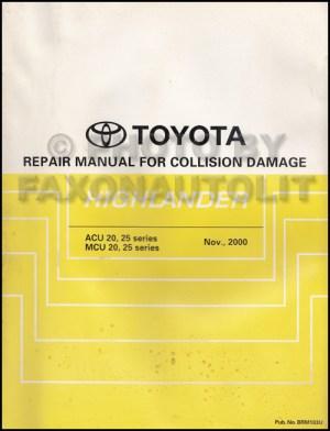 2002 Toyota Highlander Repair Shop Manual Original Set