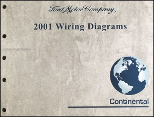 2001 Lincoln Continental Wiring Diagram Manual Original