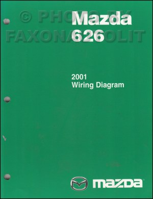 2001 Mazda 626 Wiring Diagram Manual Original