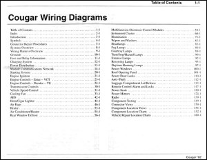 2002 Mercury Cougar Wiring Diagram Manual Original