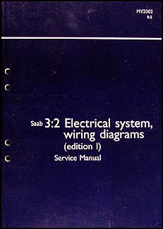 2002 Saab 95 Electrical Service Manual Wiring Diagrams