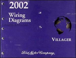 2002 Mercury Villager Wiring Diagram Manual Original